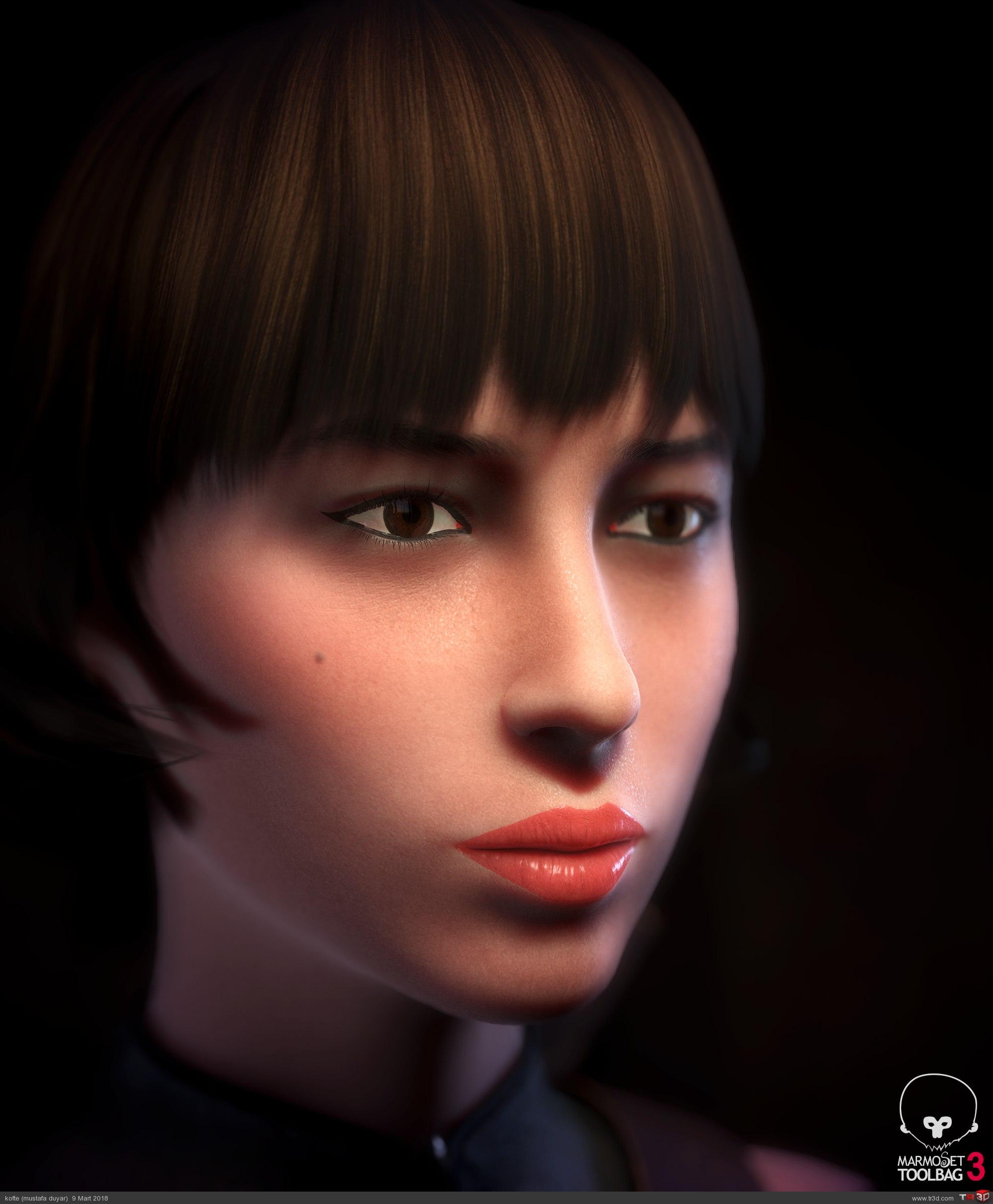 Avcı Kadın - real time karakter 1