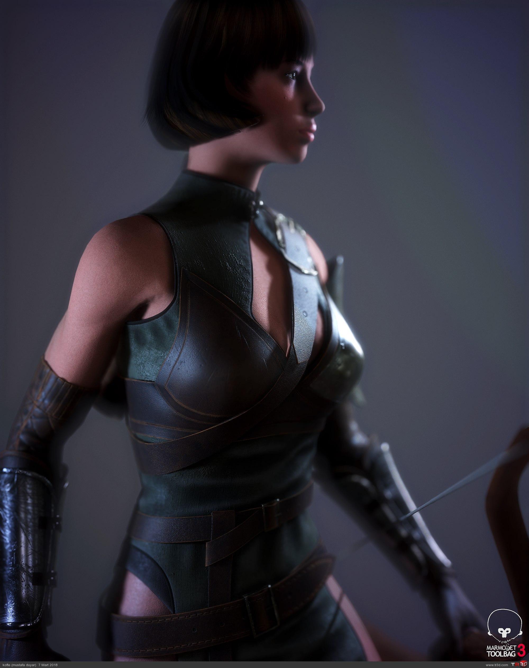 Avcı Kadın - real time karakter 2