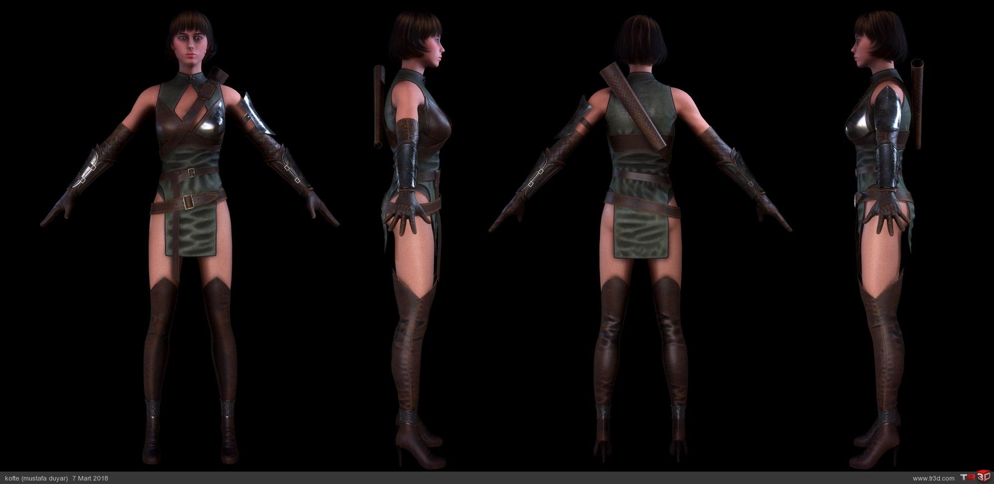 Avcı Kadın - real time karakter 3