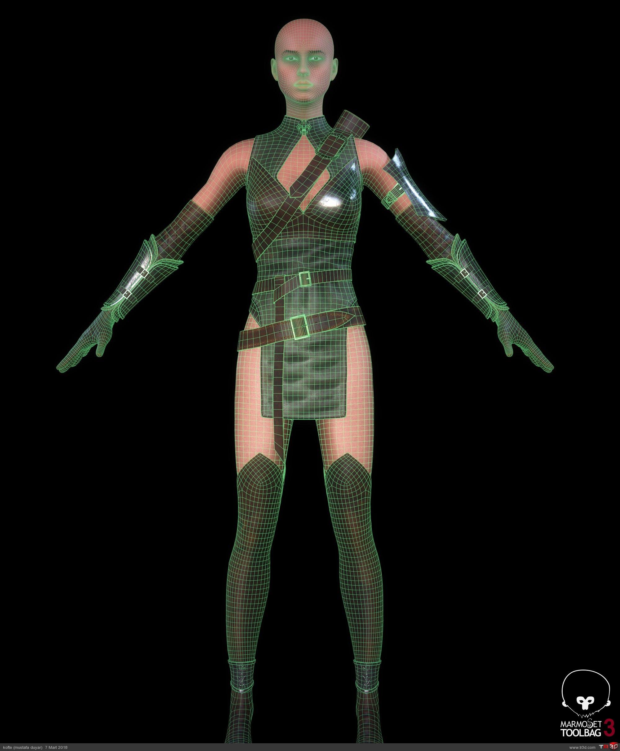 Avcı Kadın - real time karakter 4