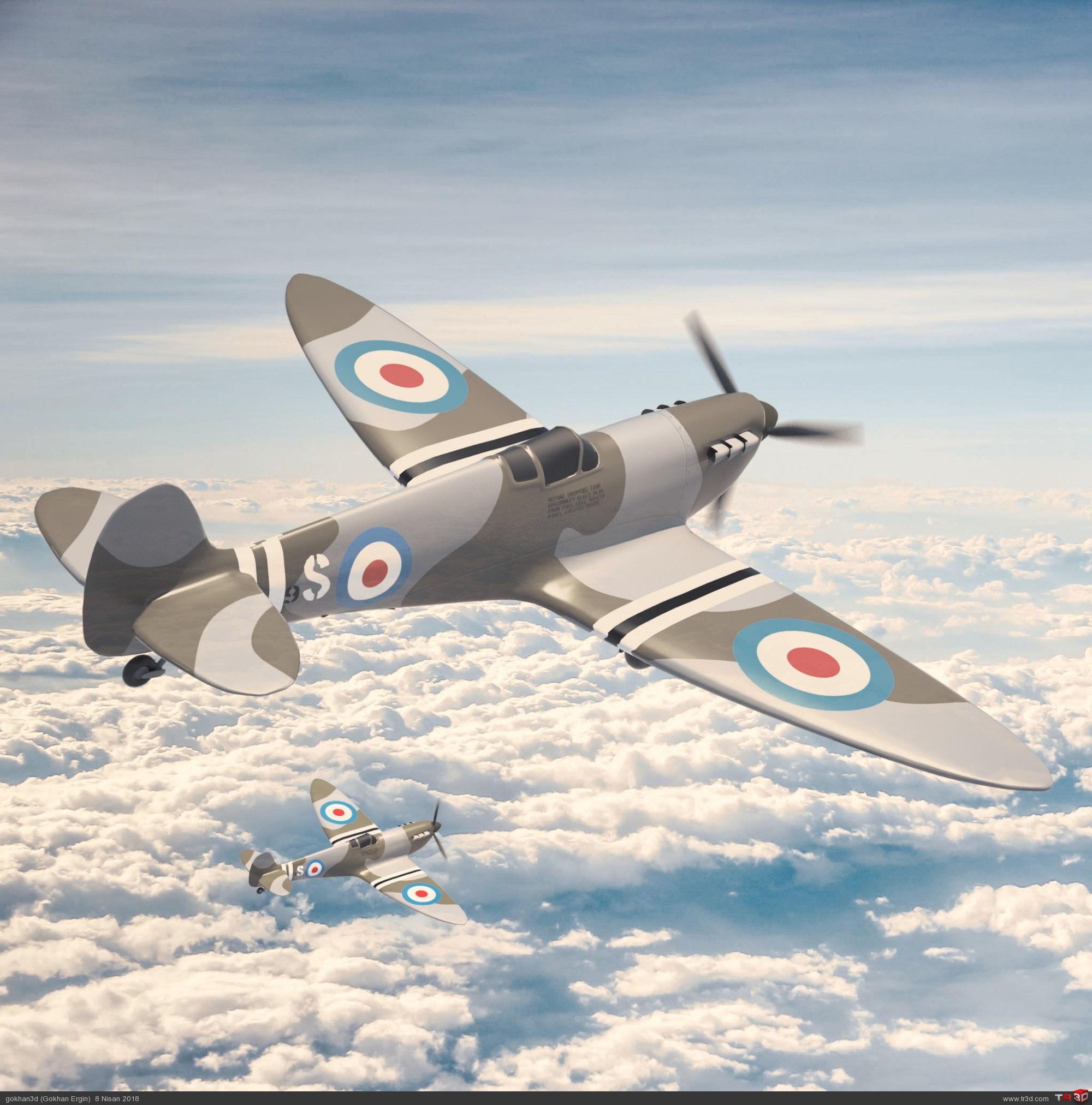 Spitfire - Ücretsiz Model