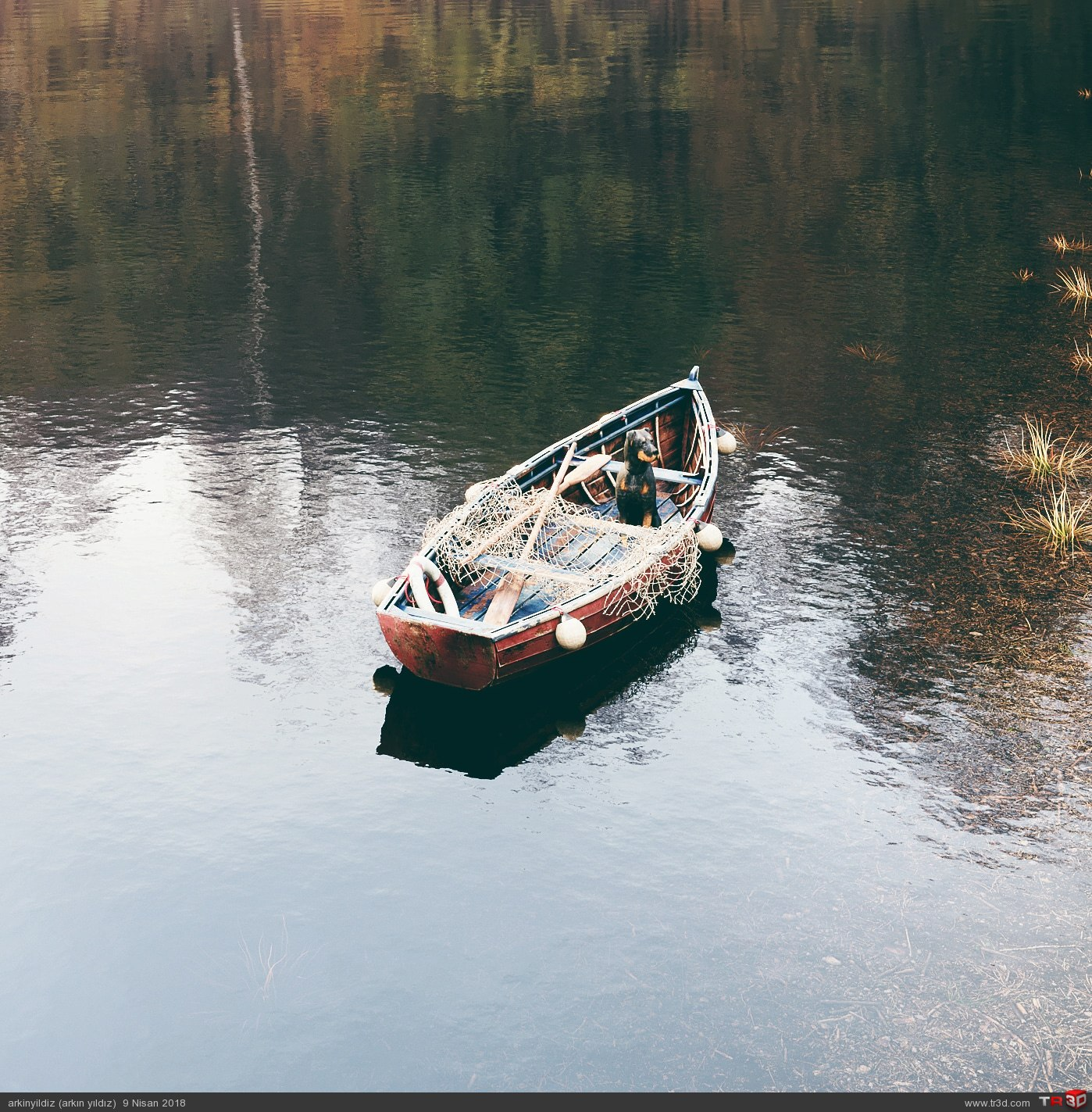 Old Fishing Boat in the Lake