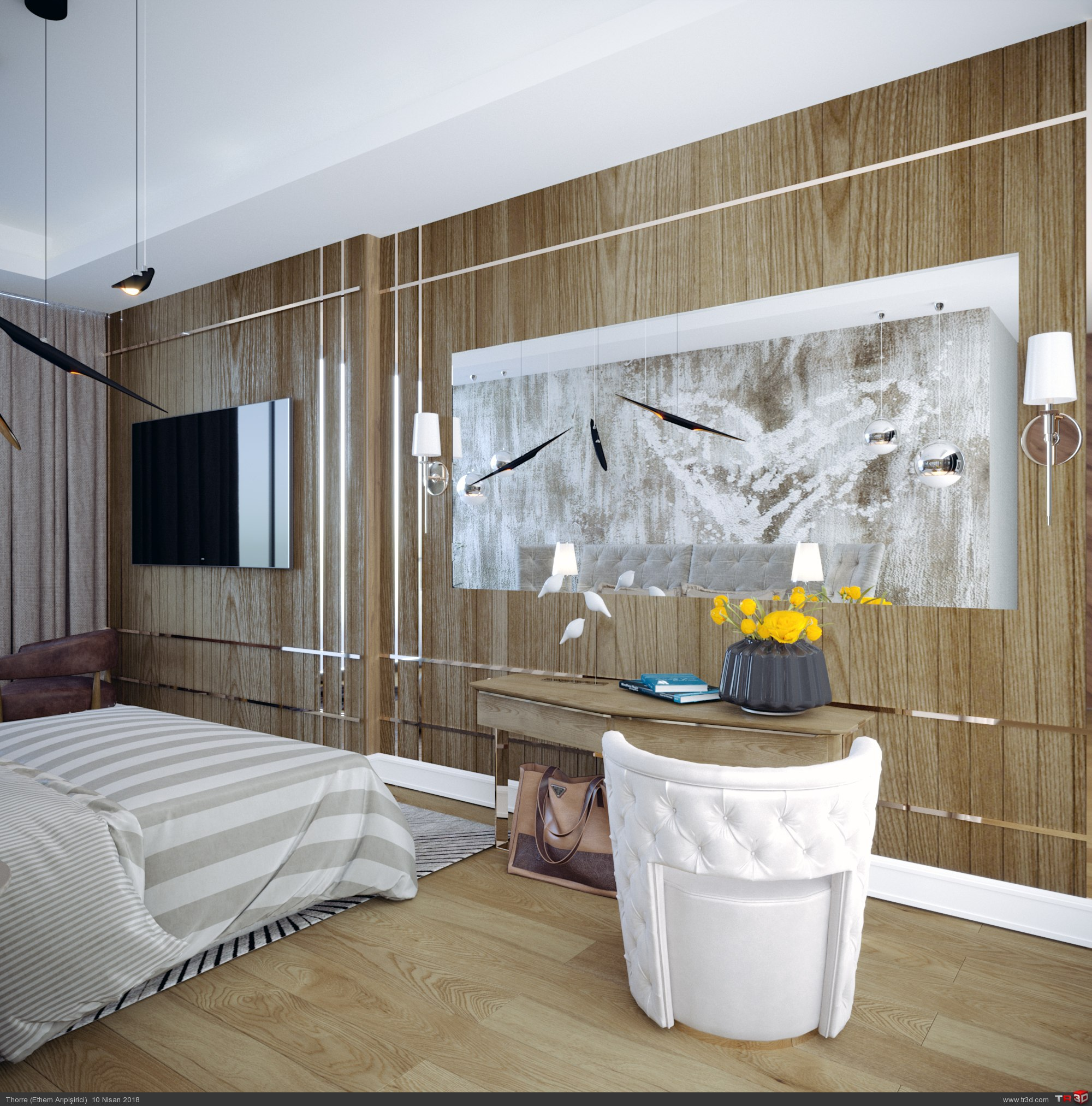 Beytepe Örnek Daire Yatak Odası 1