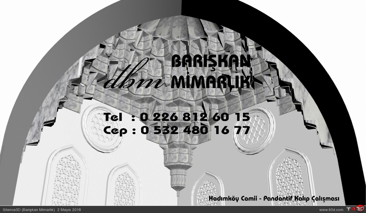 Hadımköy Camii - Pandantif Mukarnas Kalıp Çalışması