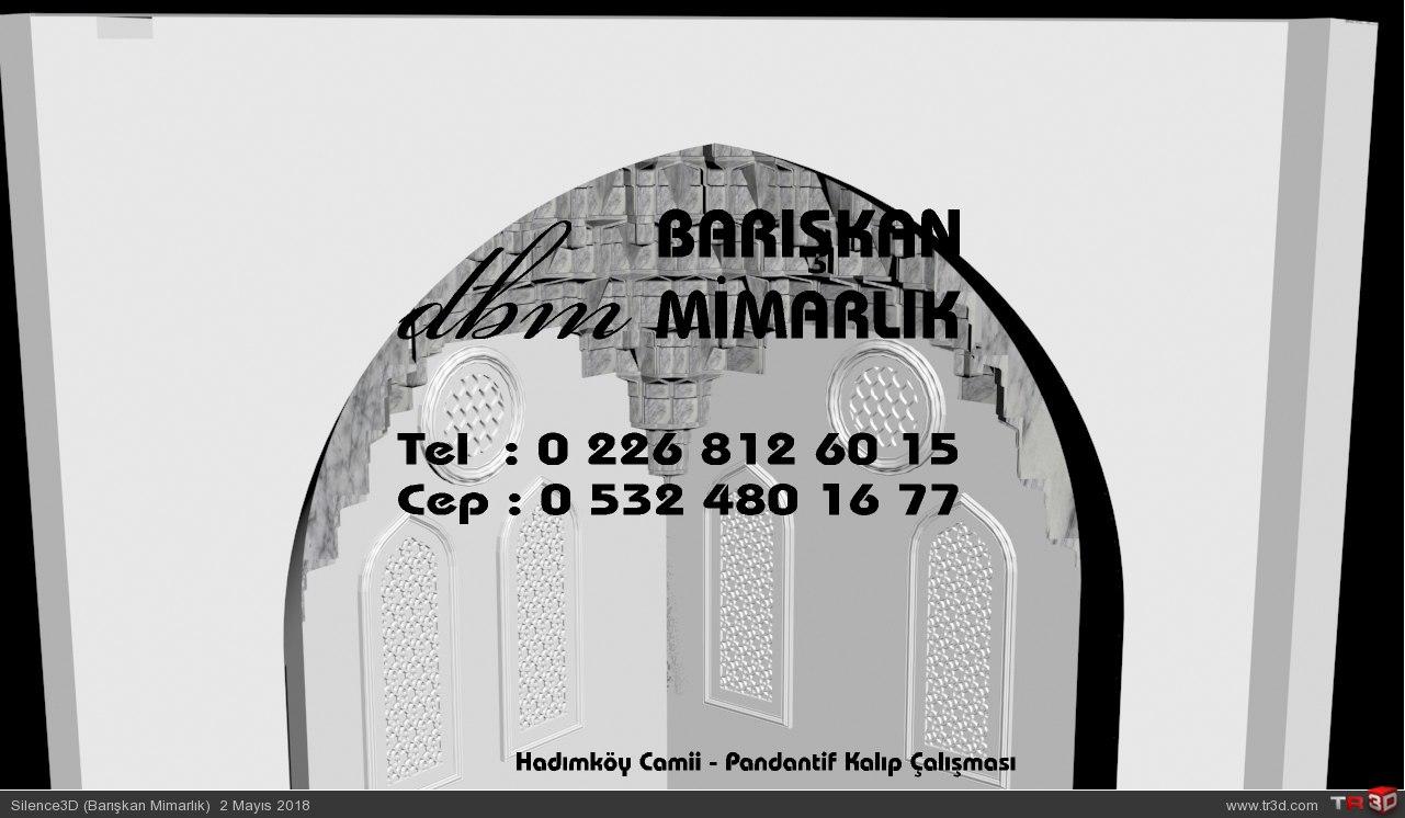 Hadımköy Camii - Pandantif Mukarnas Kalıp Çalışması 2