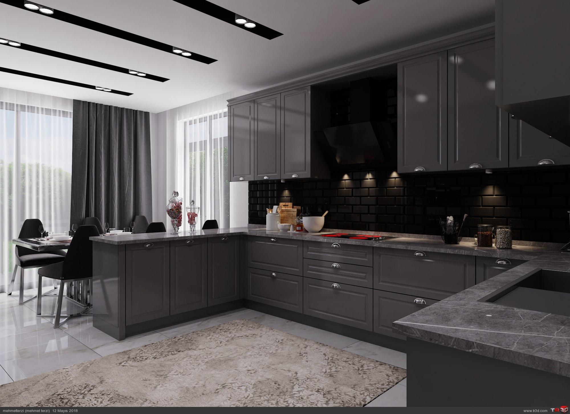 H.D  villa mutfak tasarımı