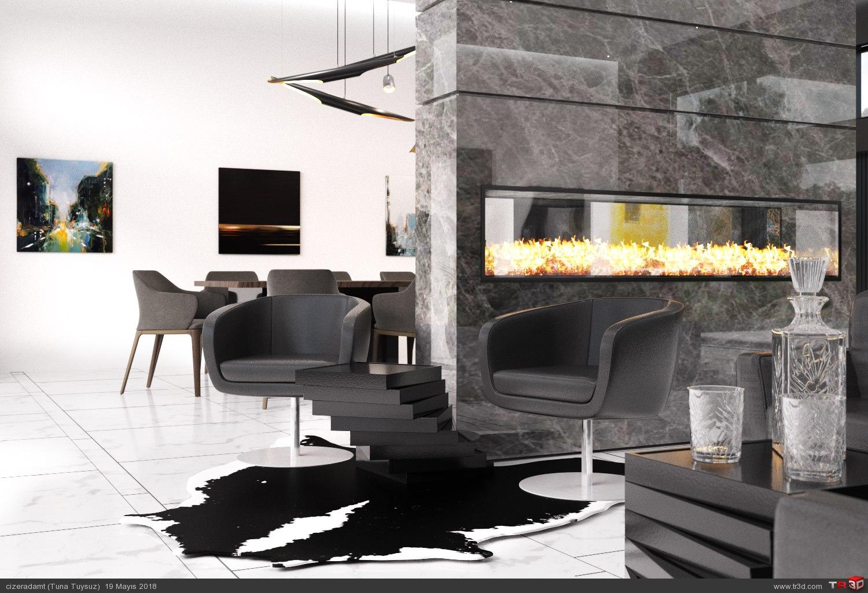 Minimalist Salon Tasarımı 4