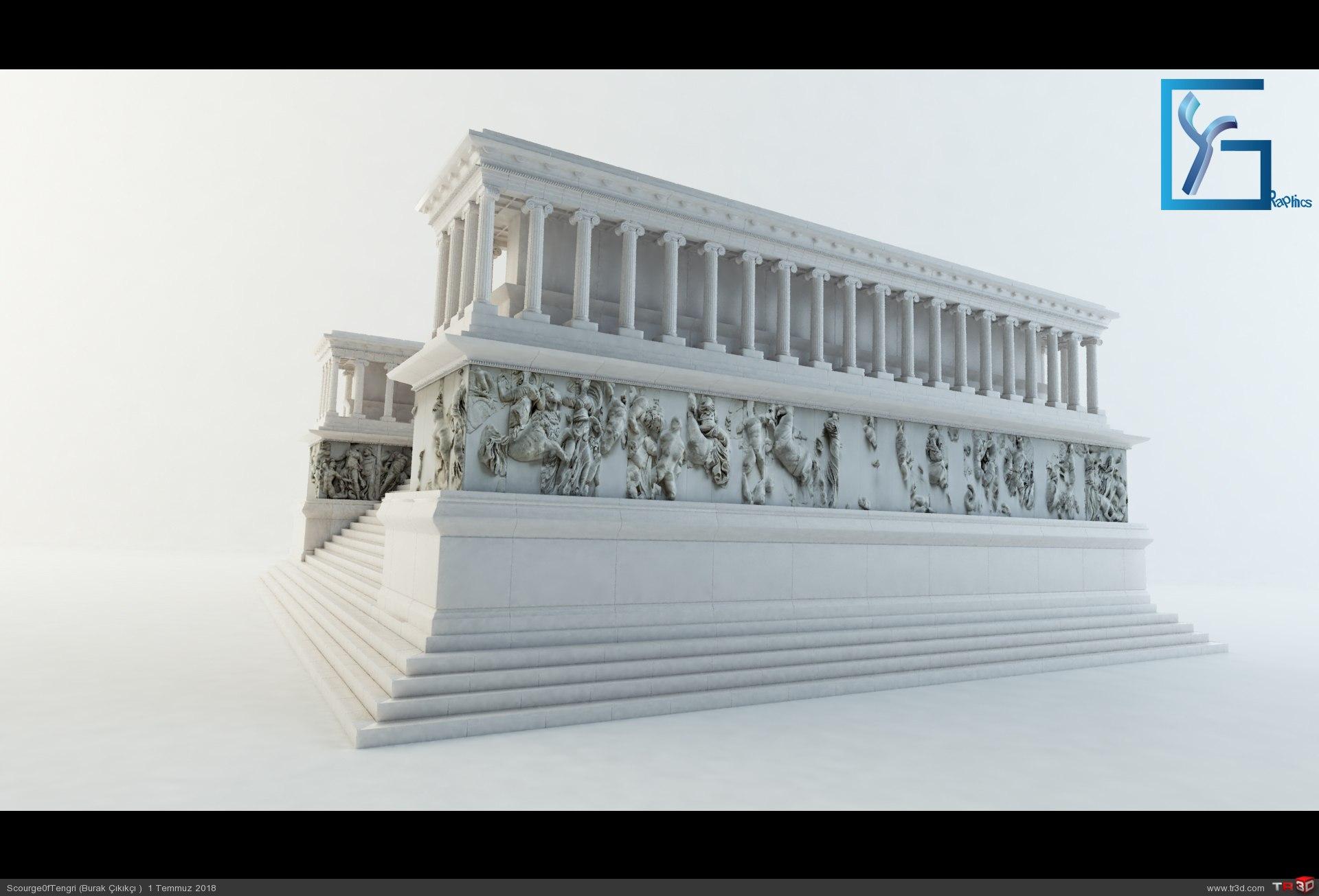 Zeus Altarı Pergamon 1