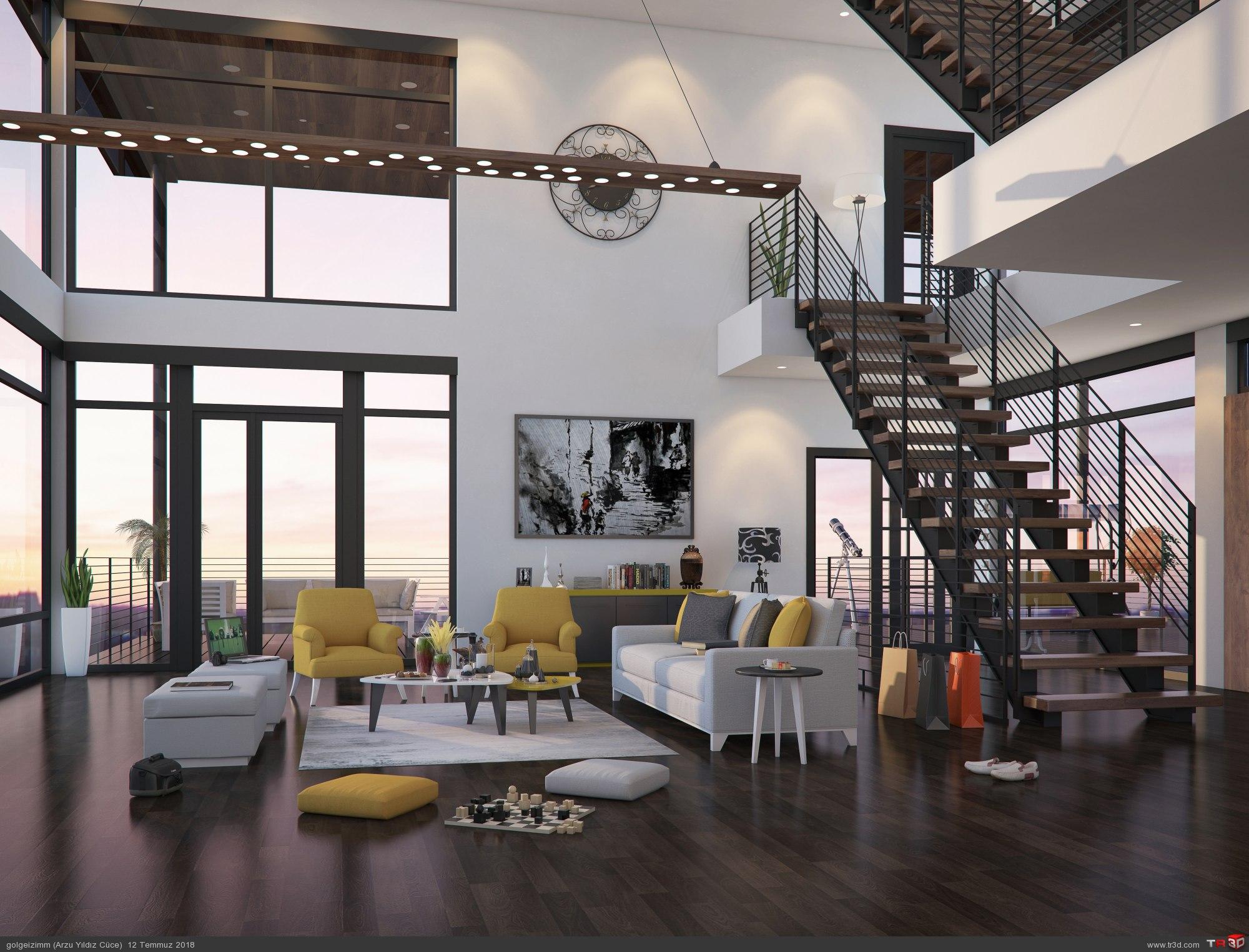 HDRI etkisi ile villa tasarımı