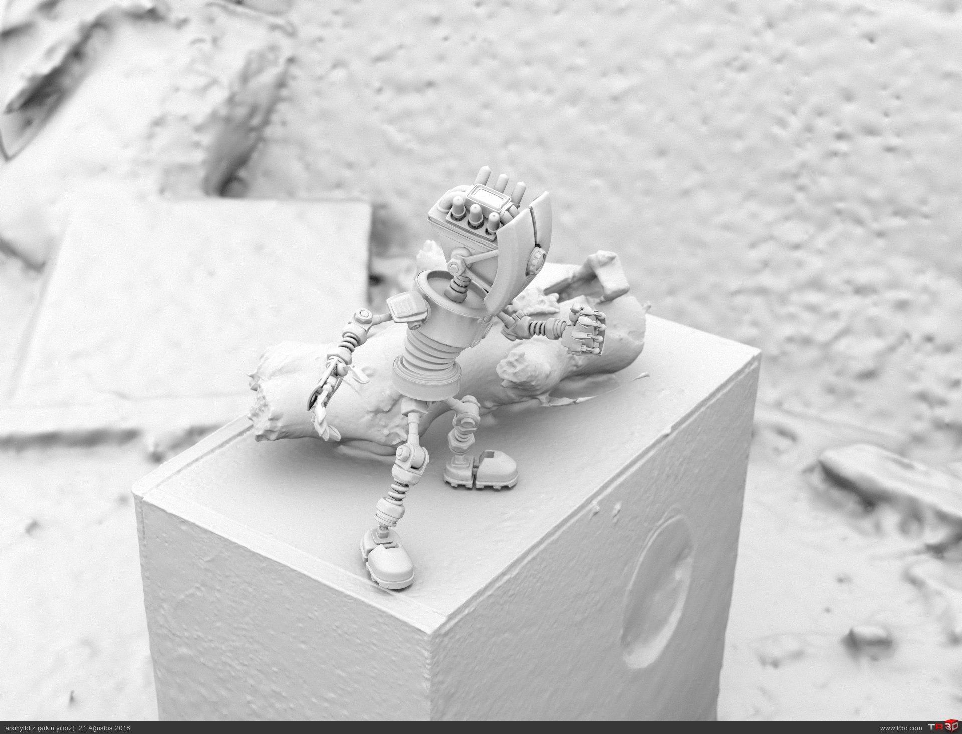 3D Scan Environment & 3D Robot Animation Test 3