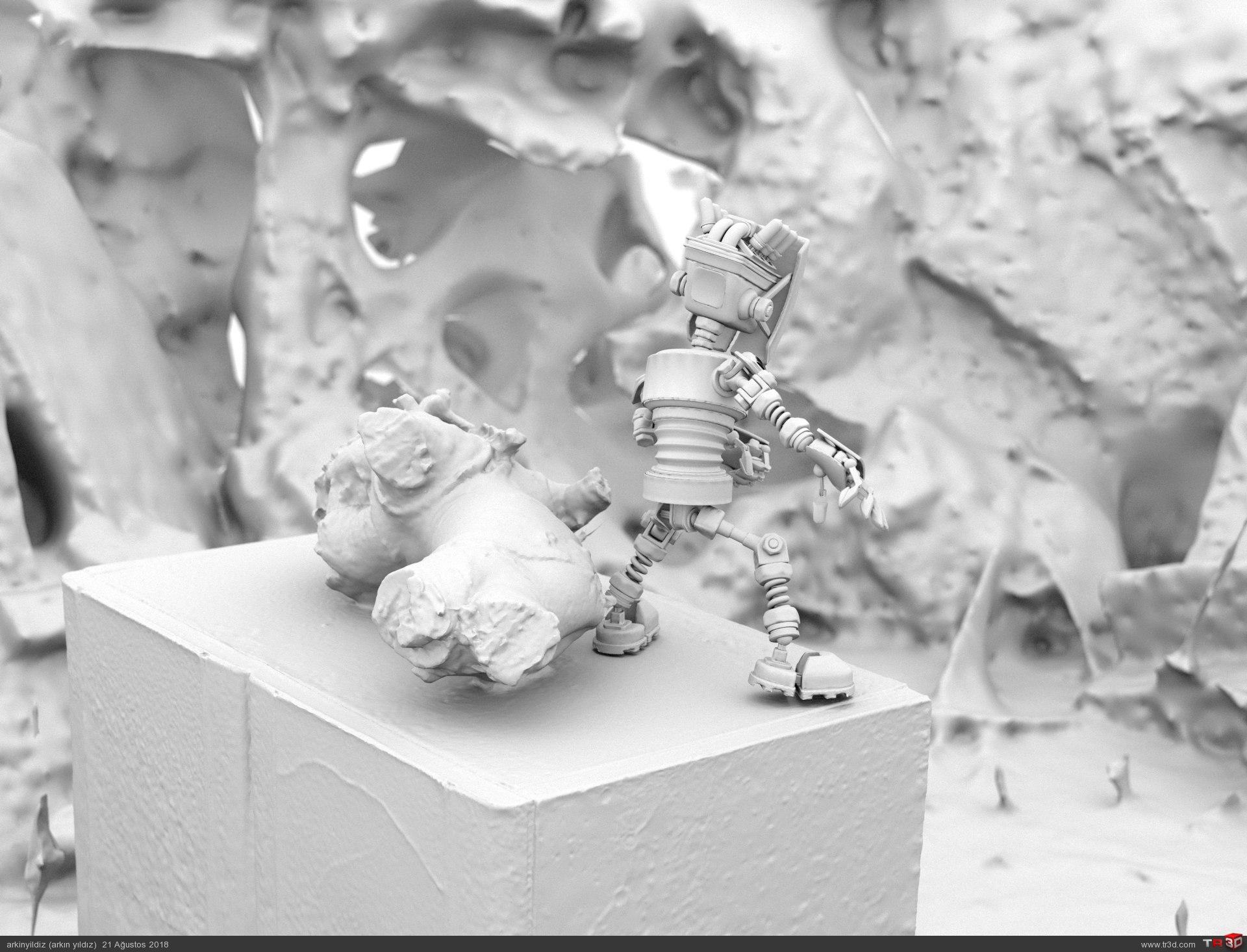 3D Scan Environment & 3D Robot Animation Test 4