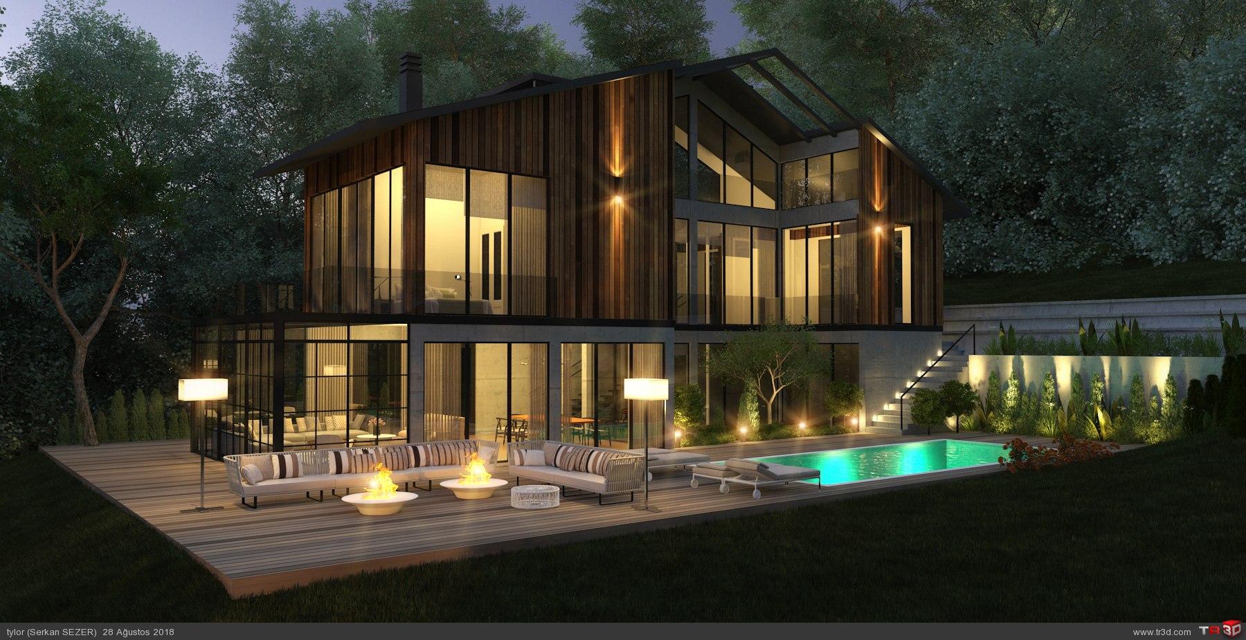 Villa 3D görselleştirme