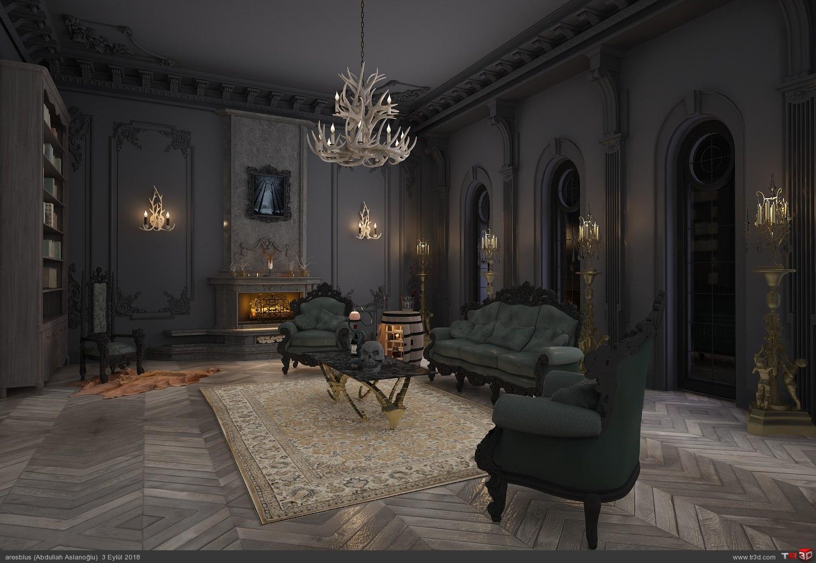 Gothic Livingroom 2018 1