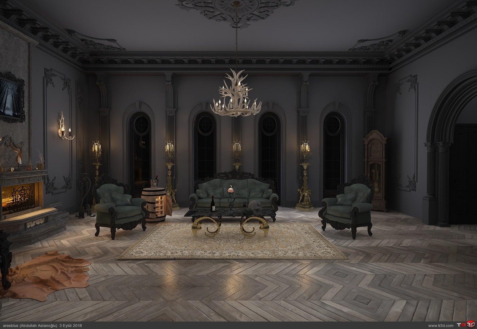 Gothic Livingroom 2018 2