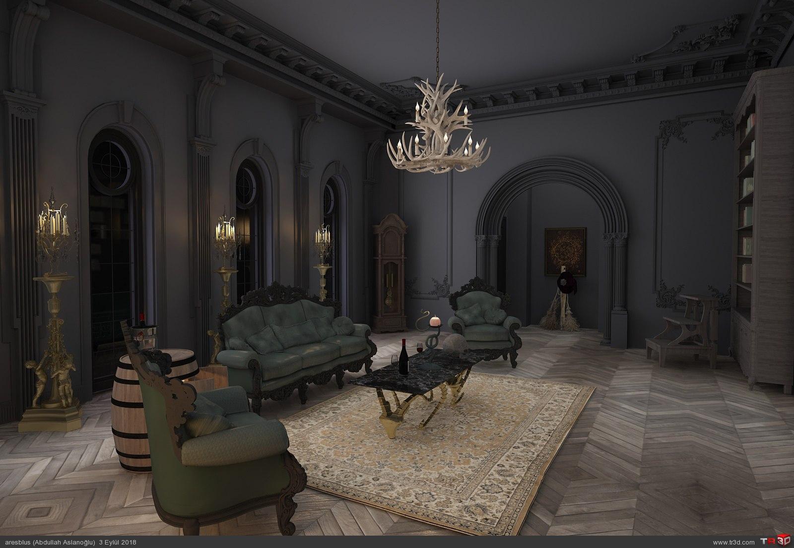 Gothic Livingroom 2018 3