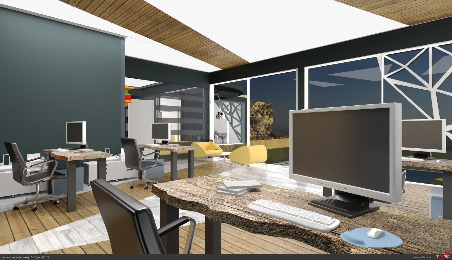 ofis tasarımı-ticari çalışma