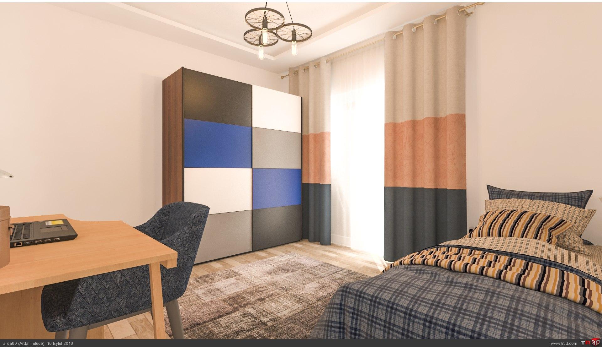 Erkek Çocuk odası tasarımı 1