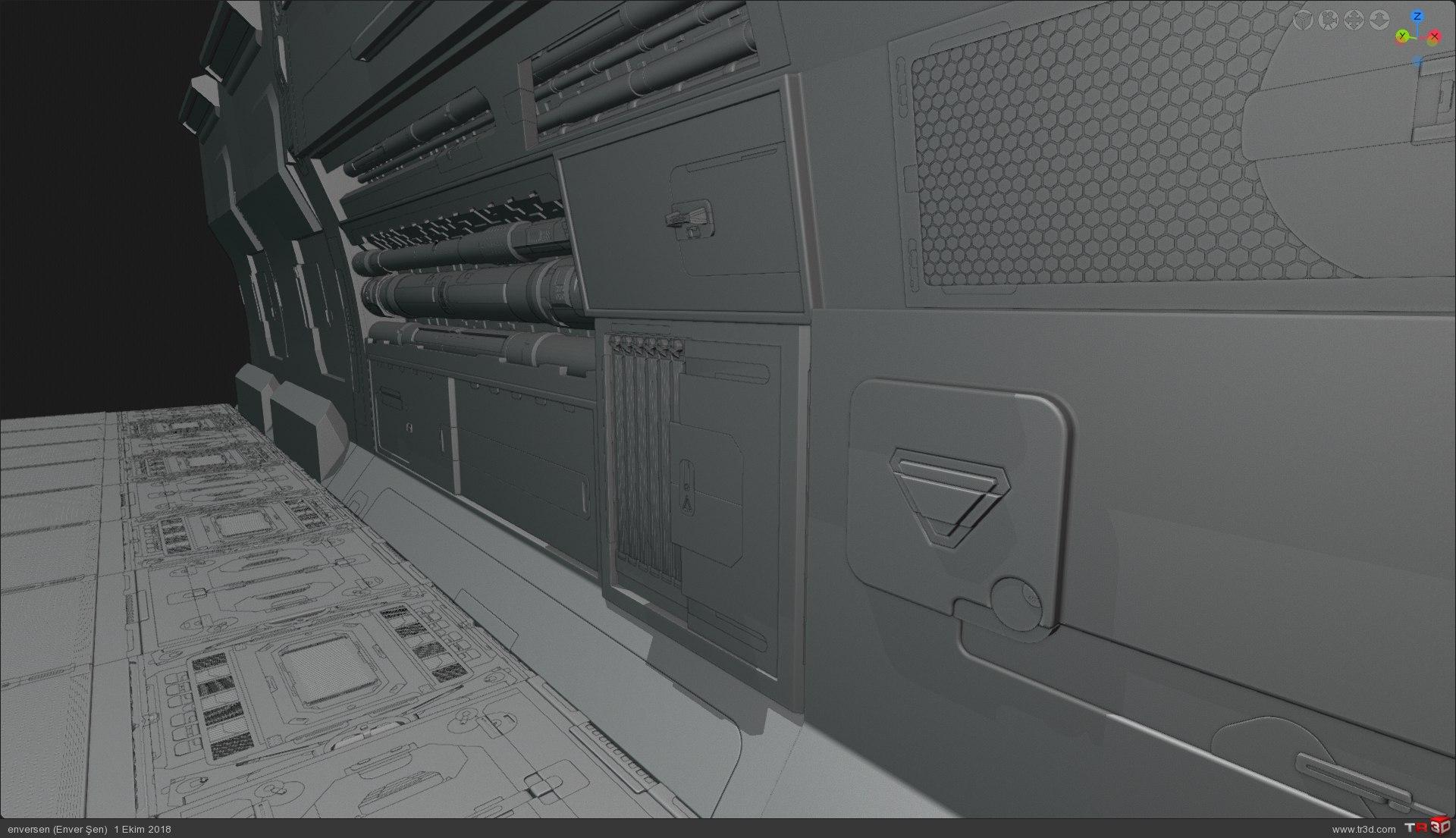 3d Konsept (uzay gemisi içinden bir koridor) 1