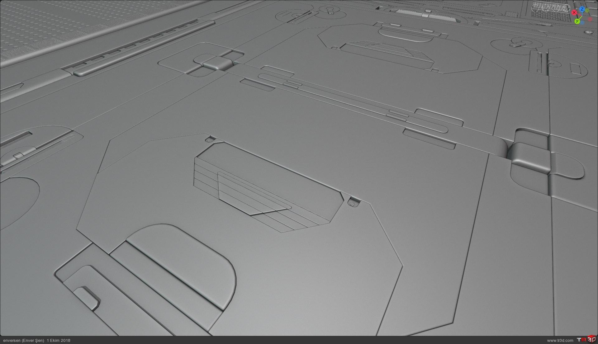 3d Konsept (uzay gemisi içinden bir koridor) 4