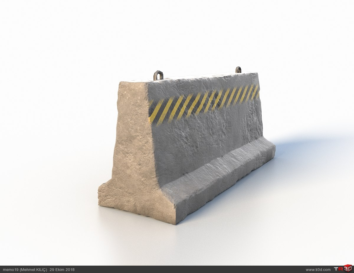 Concrete Road Barrier 1