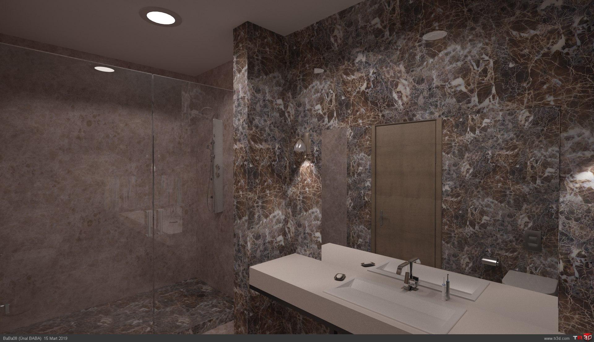 Villa İç Dekorasyonu - Mutfak ve Banyo  2