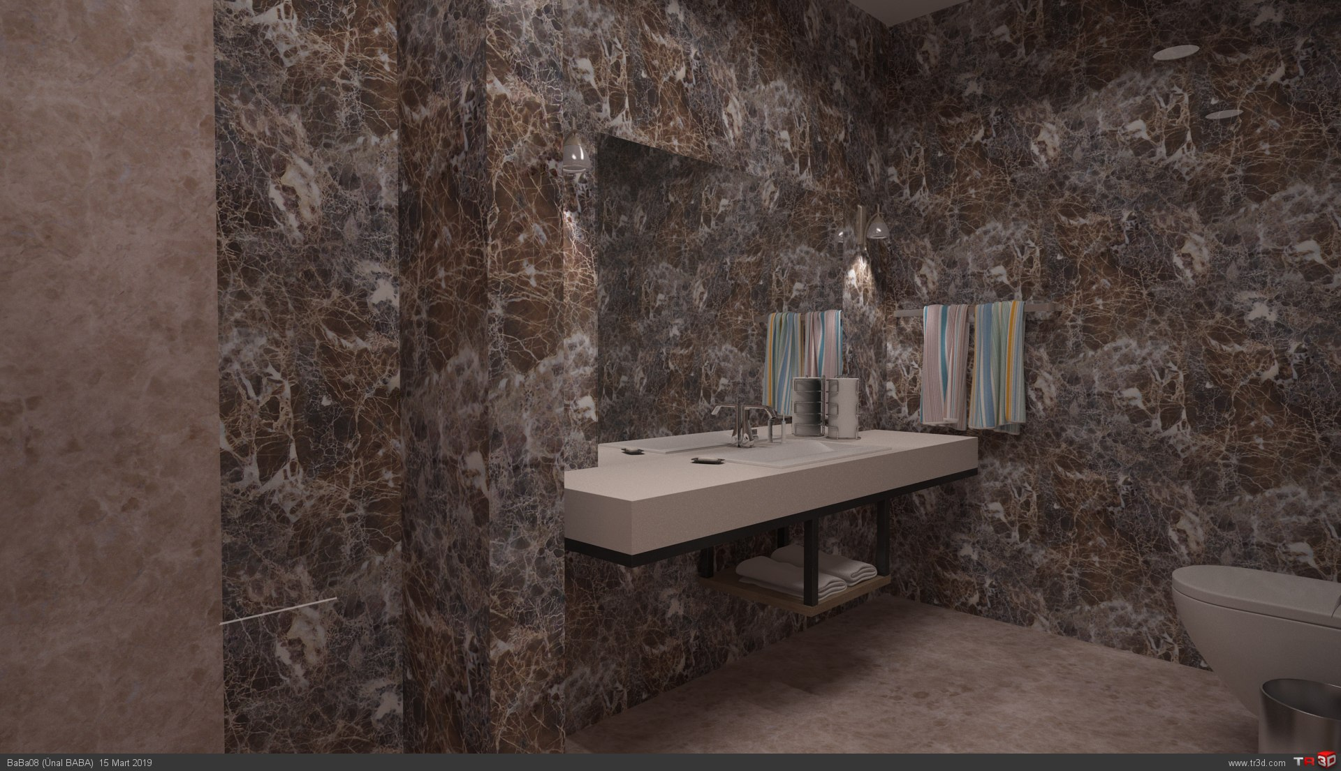 Villa İç Dekorasyonu - Mutfak ve Banyo  3