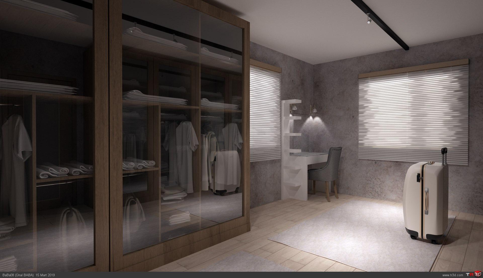 Villa İç Dekorasyonu - Oturma Odası ve Giyinme Odası 3