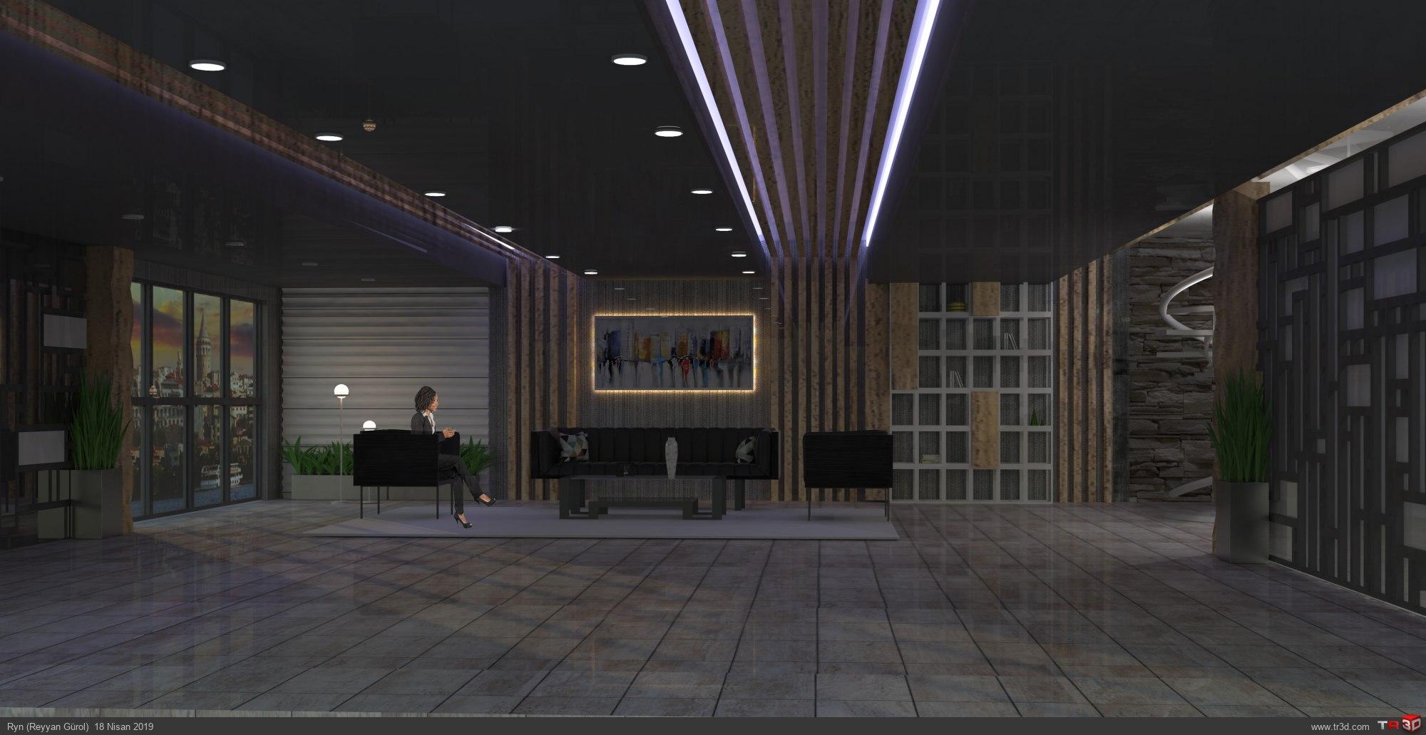 Ankara-Bekleme salonu render