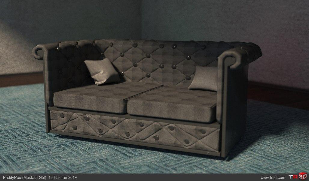 Capitone mini sofa