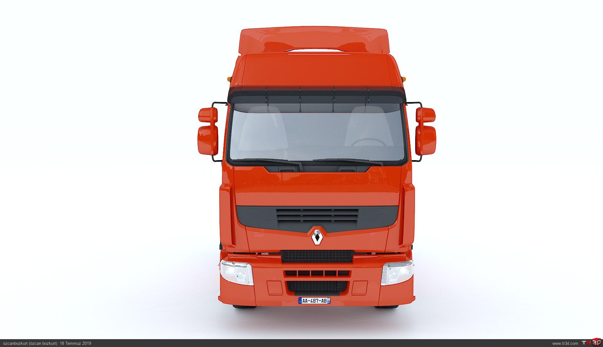 Renault Premium Truck 3d Model