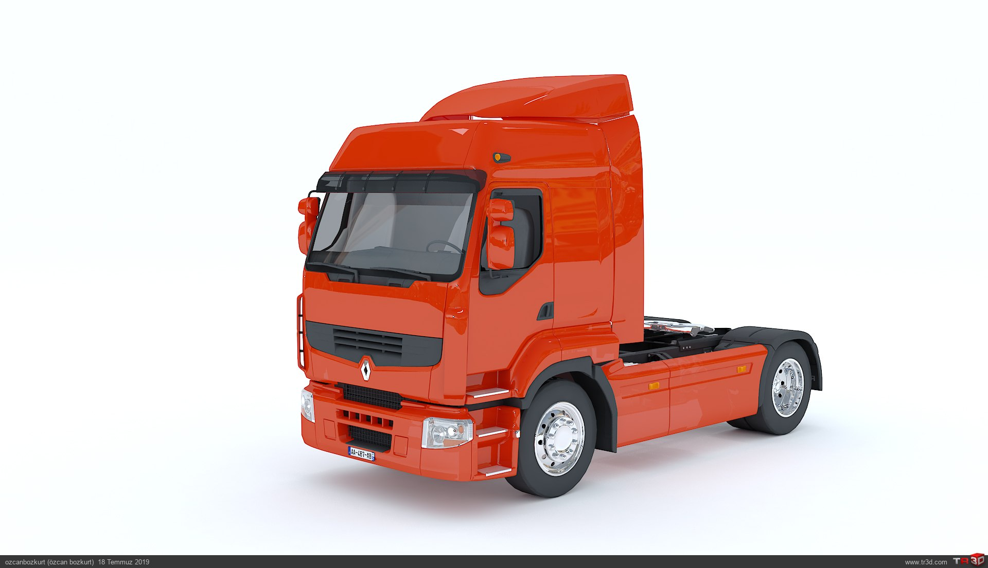 Renault Premium Truck 3d Model 2