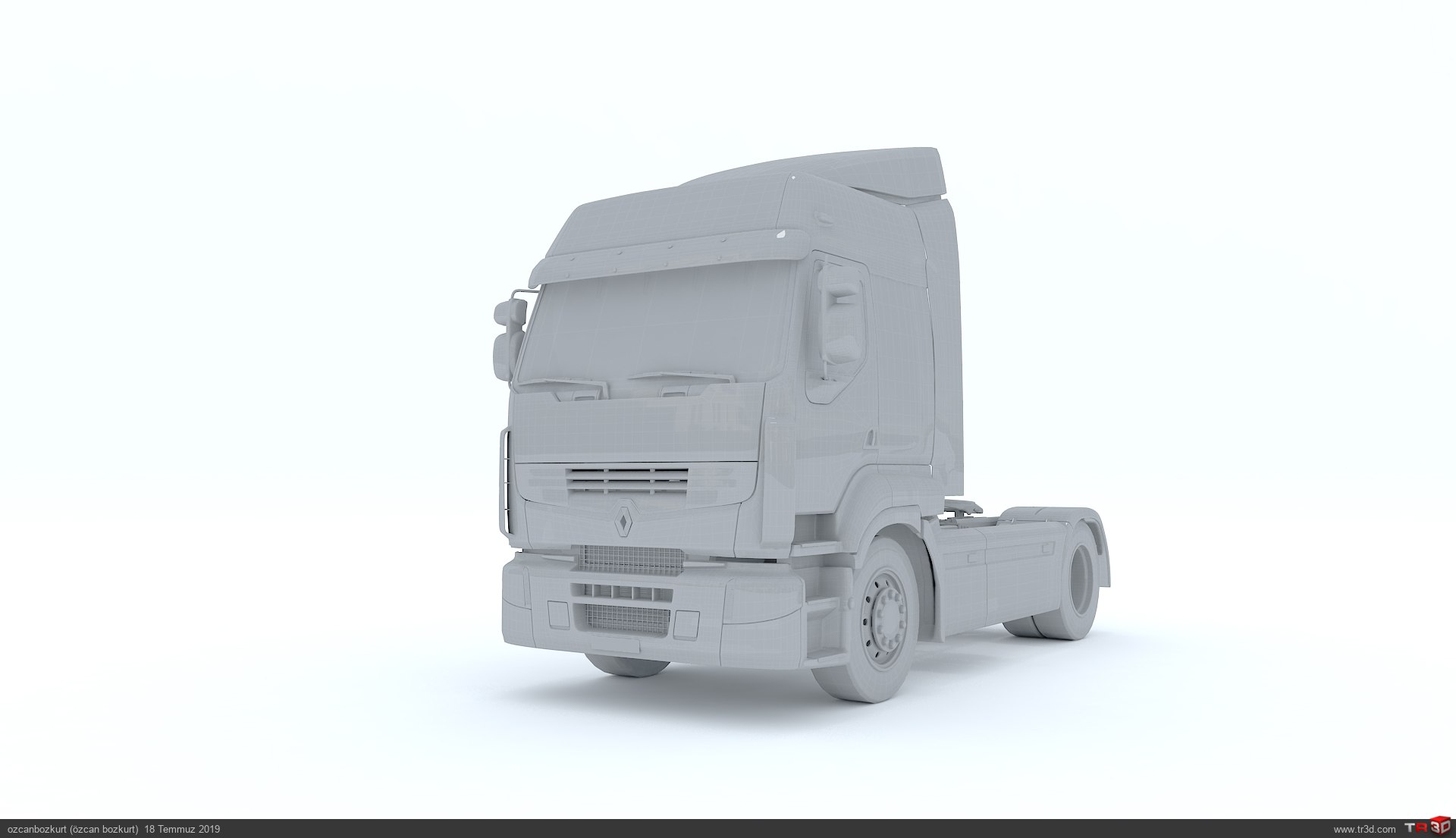 Renault Premium Truck 3d Model 3