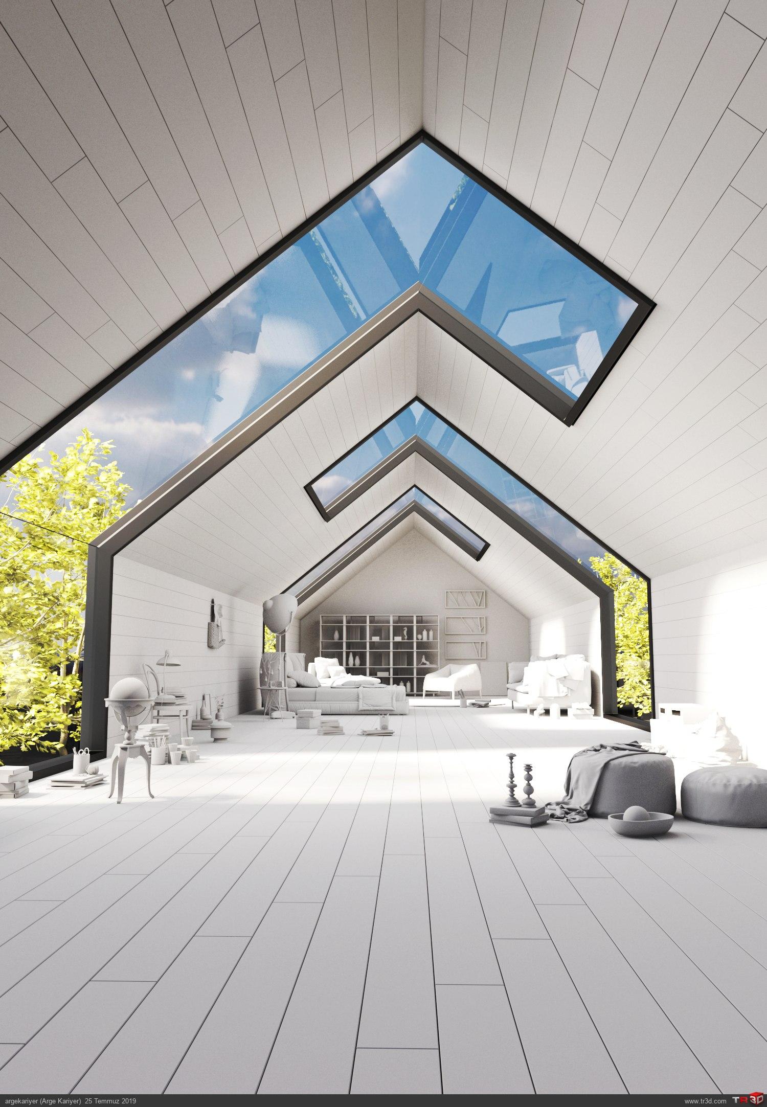 Mimari ve İç Mimari 3d Max Kursu İç Mekan Konsept Render  1