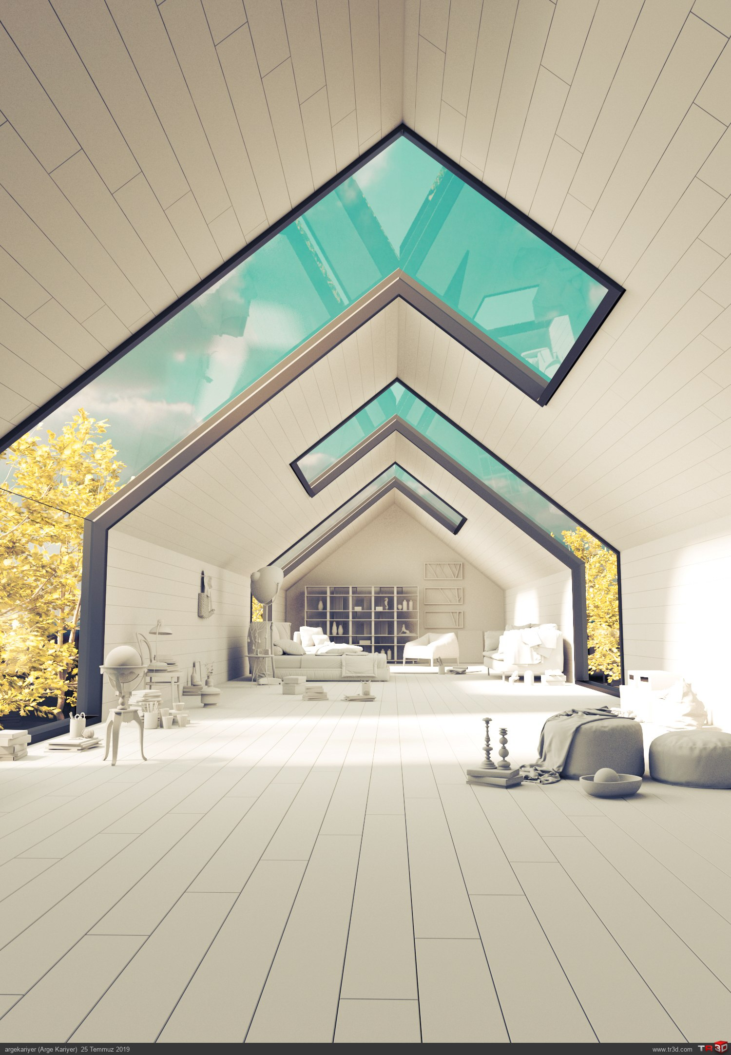 Mimari ve İç Mimari 3d Max Kursu İç Mekan Konsept Render  2