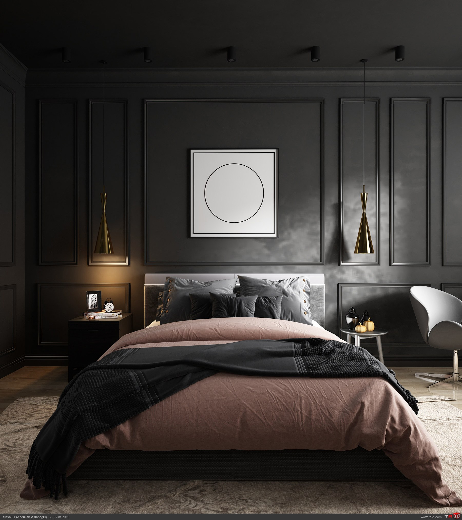 Yatak Odası Siyah Consept 1