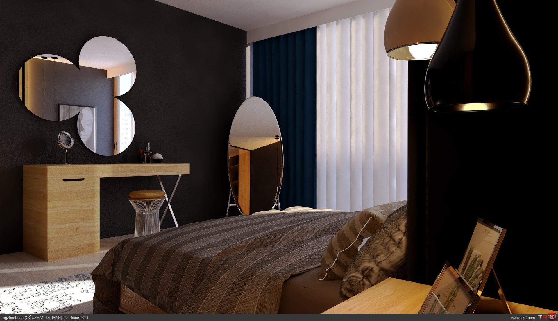 Yatak Odası+Giyinme Odası