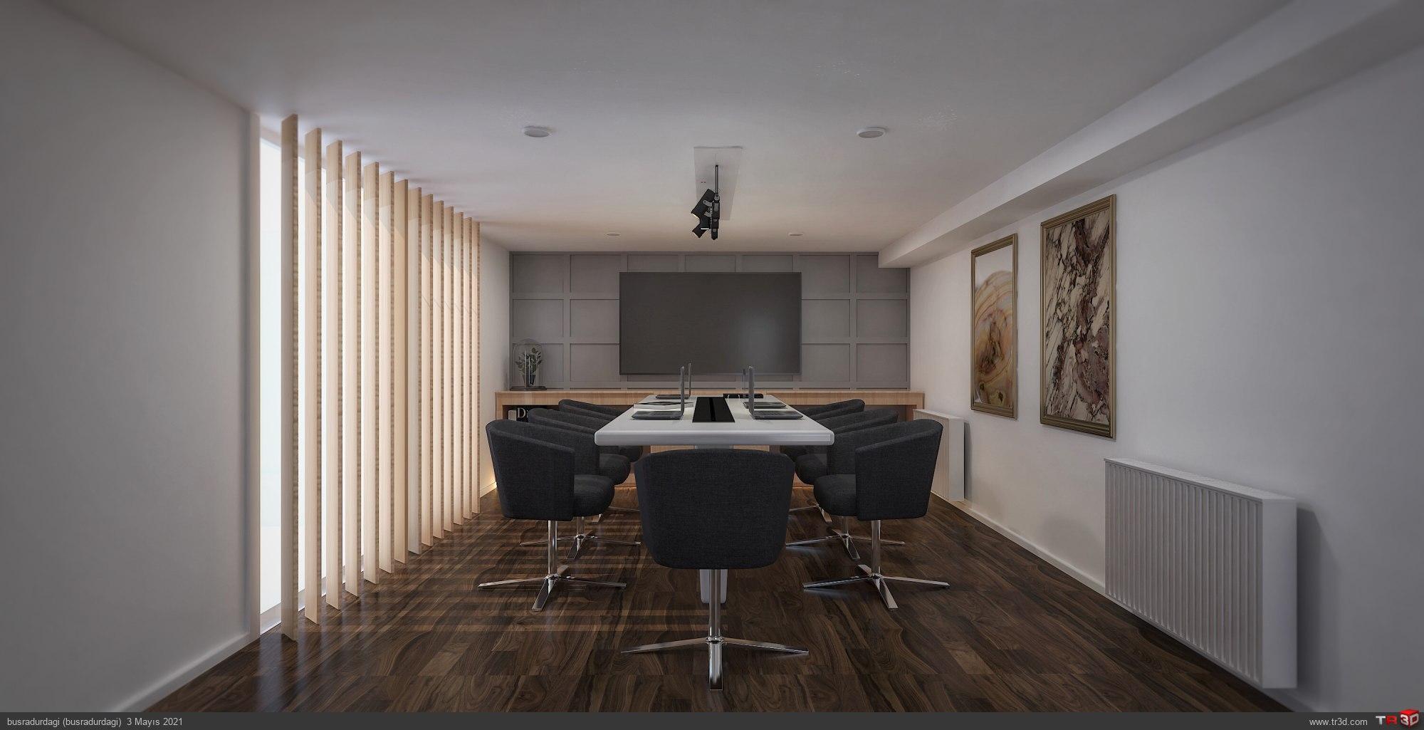 Toplantı odası tasarım çalışması