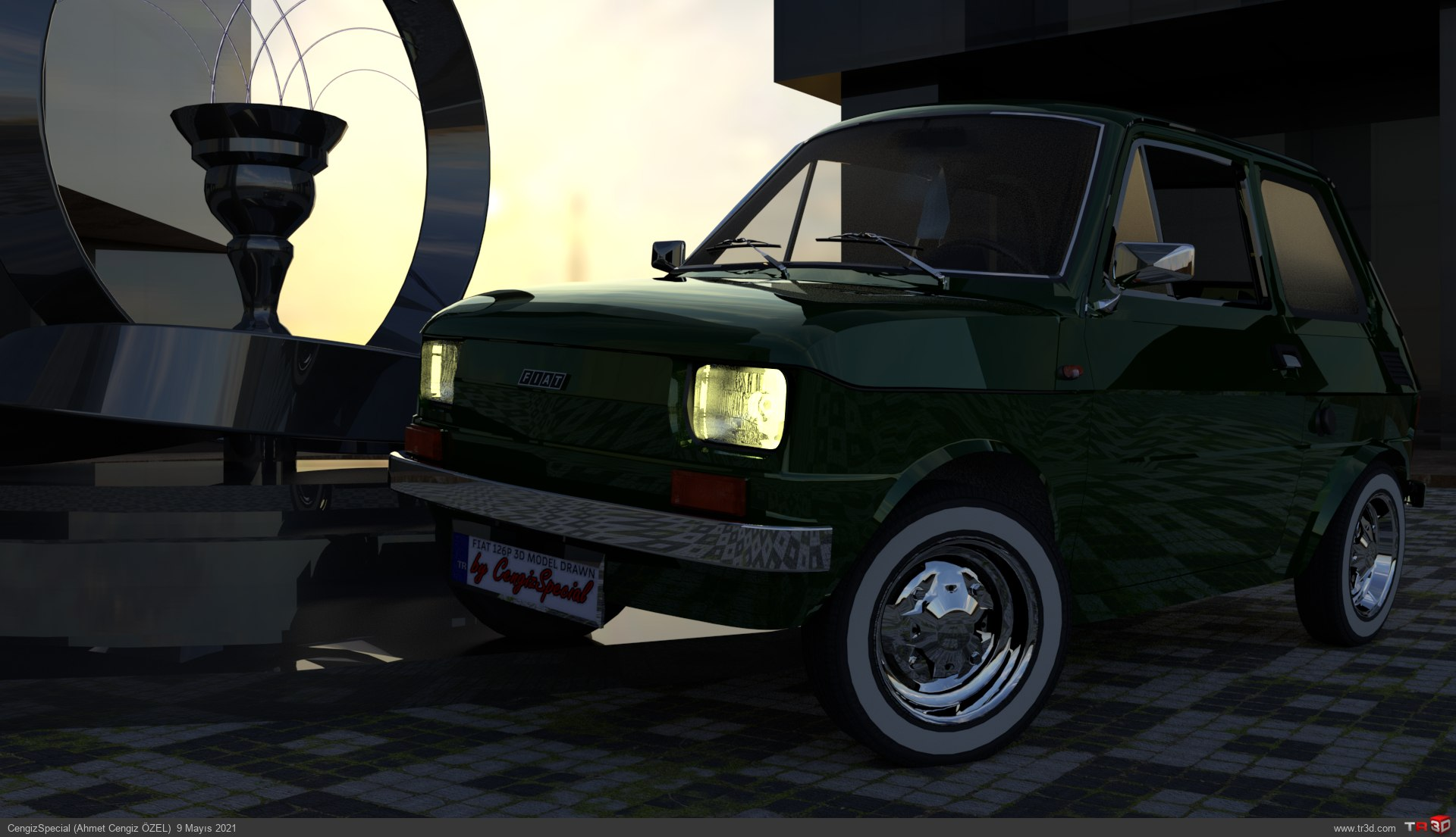 Fiat 126p Araba Çizimi (1976) 1