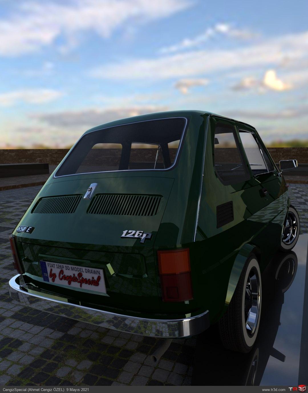 Fiat 126p Araba Çizimi (1976) 2