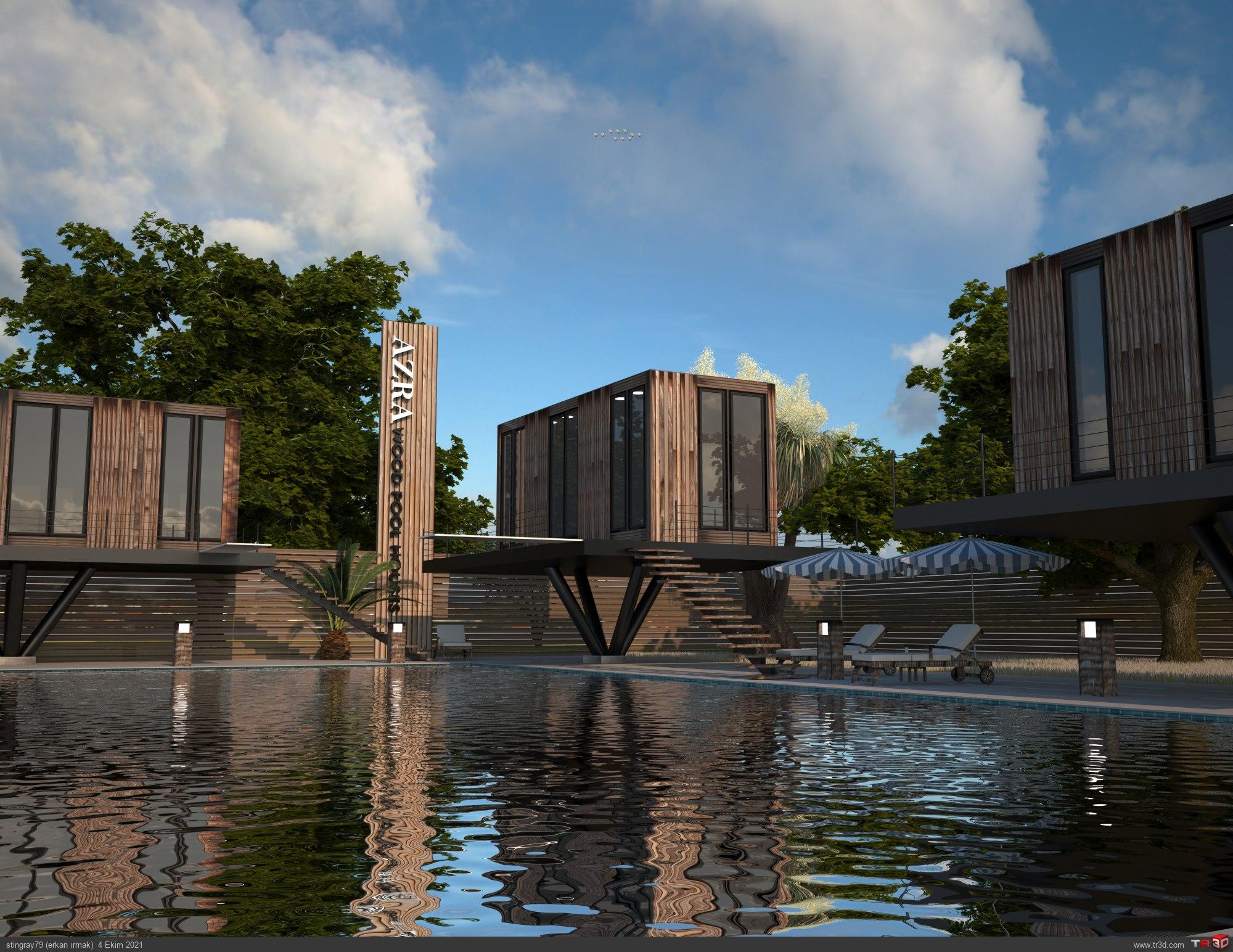 wood pool houses 3