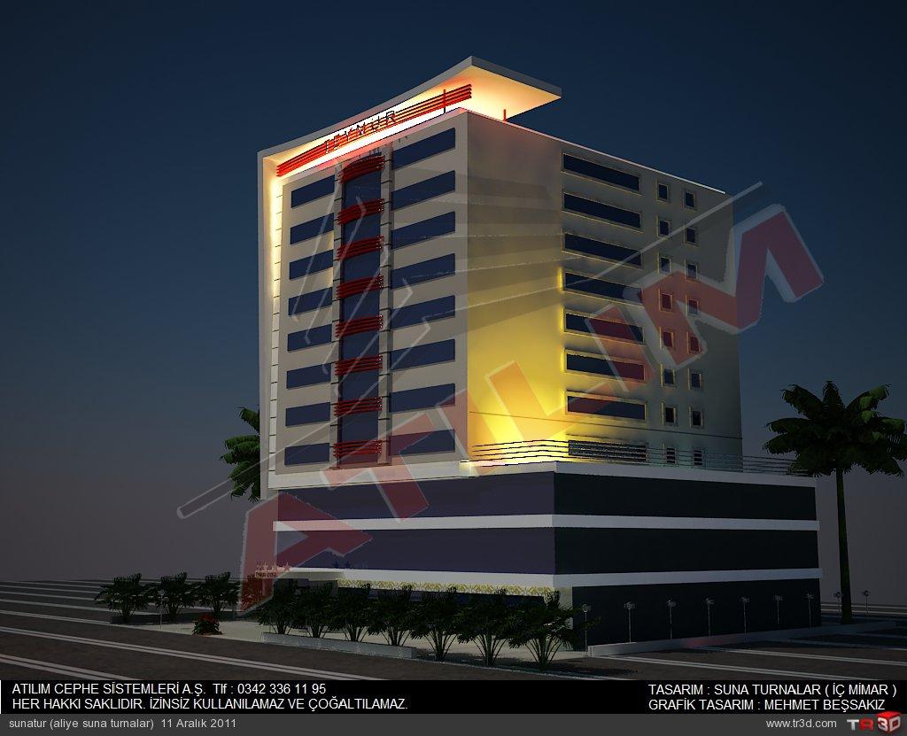 otel cephe tasarımı