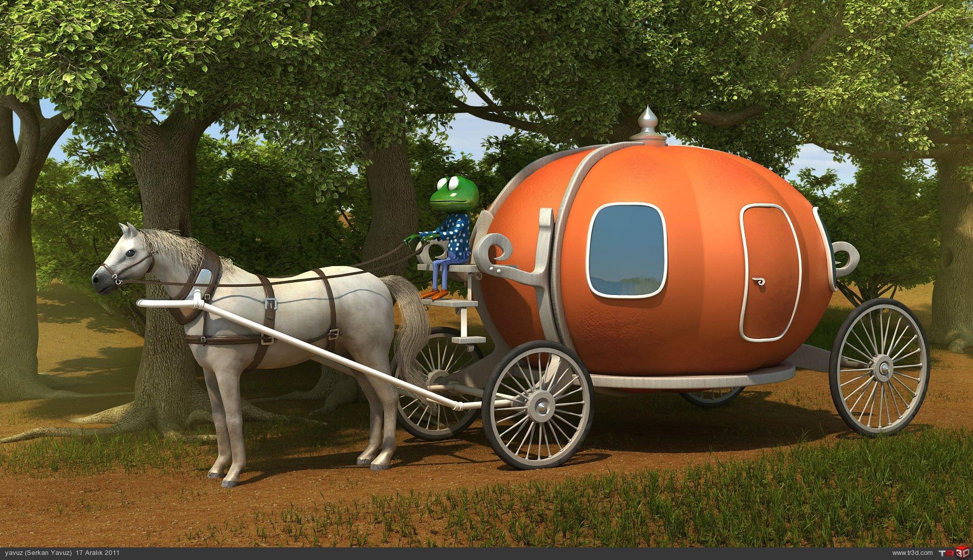 At, balkabağı ve kurbağa