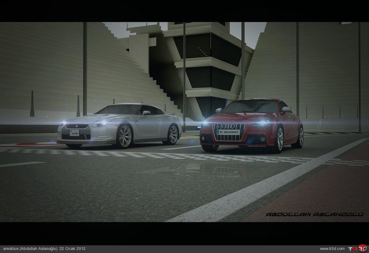 Araba Yarış Animasyonu 1