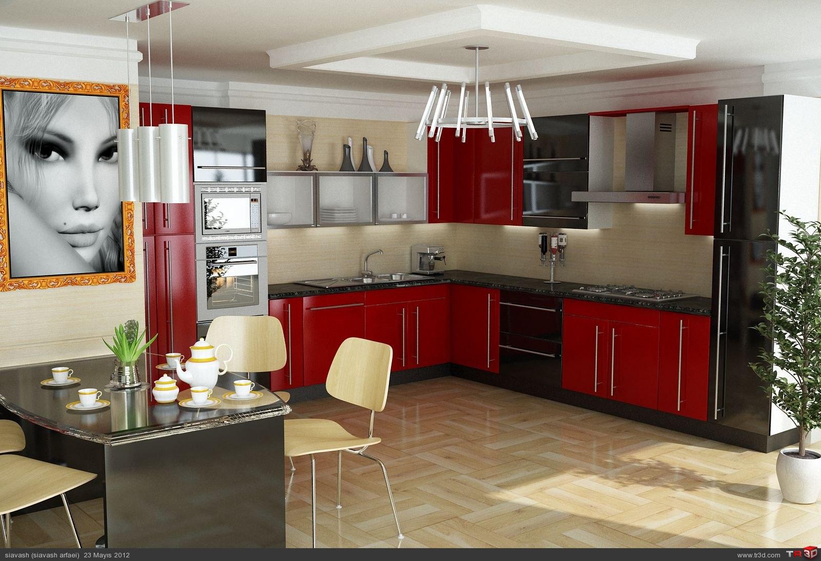 kırmızı mutfak..