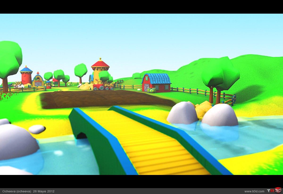 Caillou Çiftlikte Pc Oyun 2