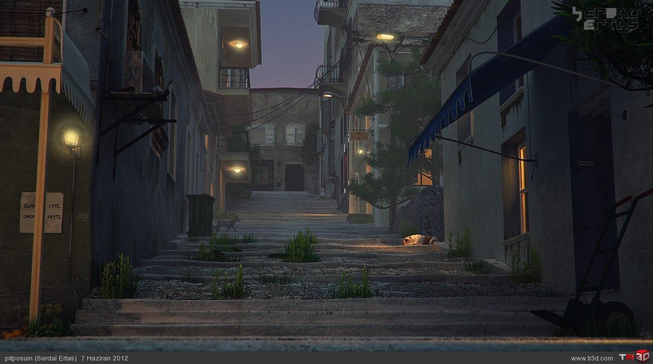 Eski Sokak 2-gece ve yağmurlu
