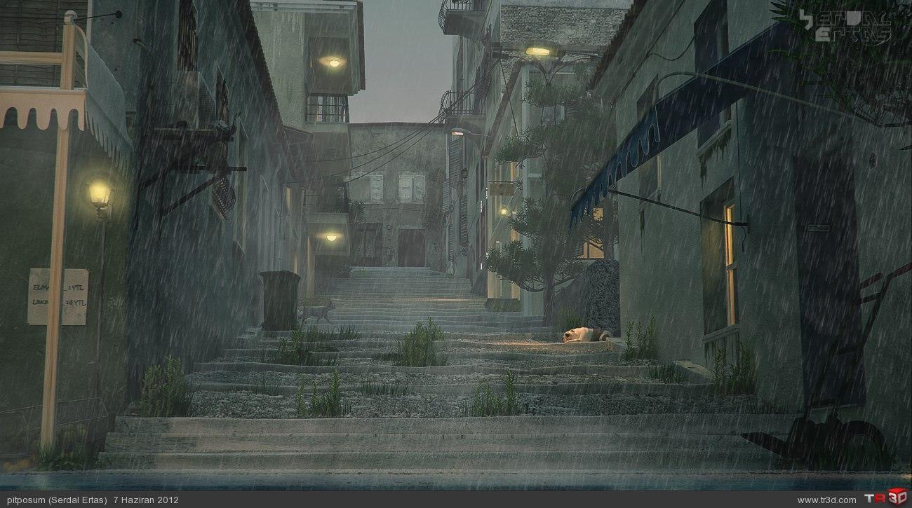 Eski Sokak 2-gece ve yağmurlu 1