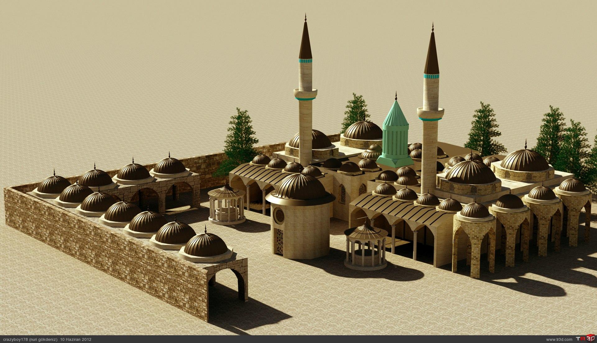 Mevlana Türbesi 3D Design 6