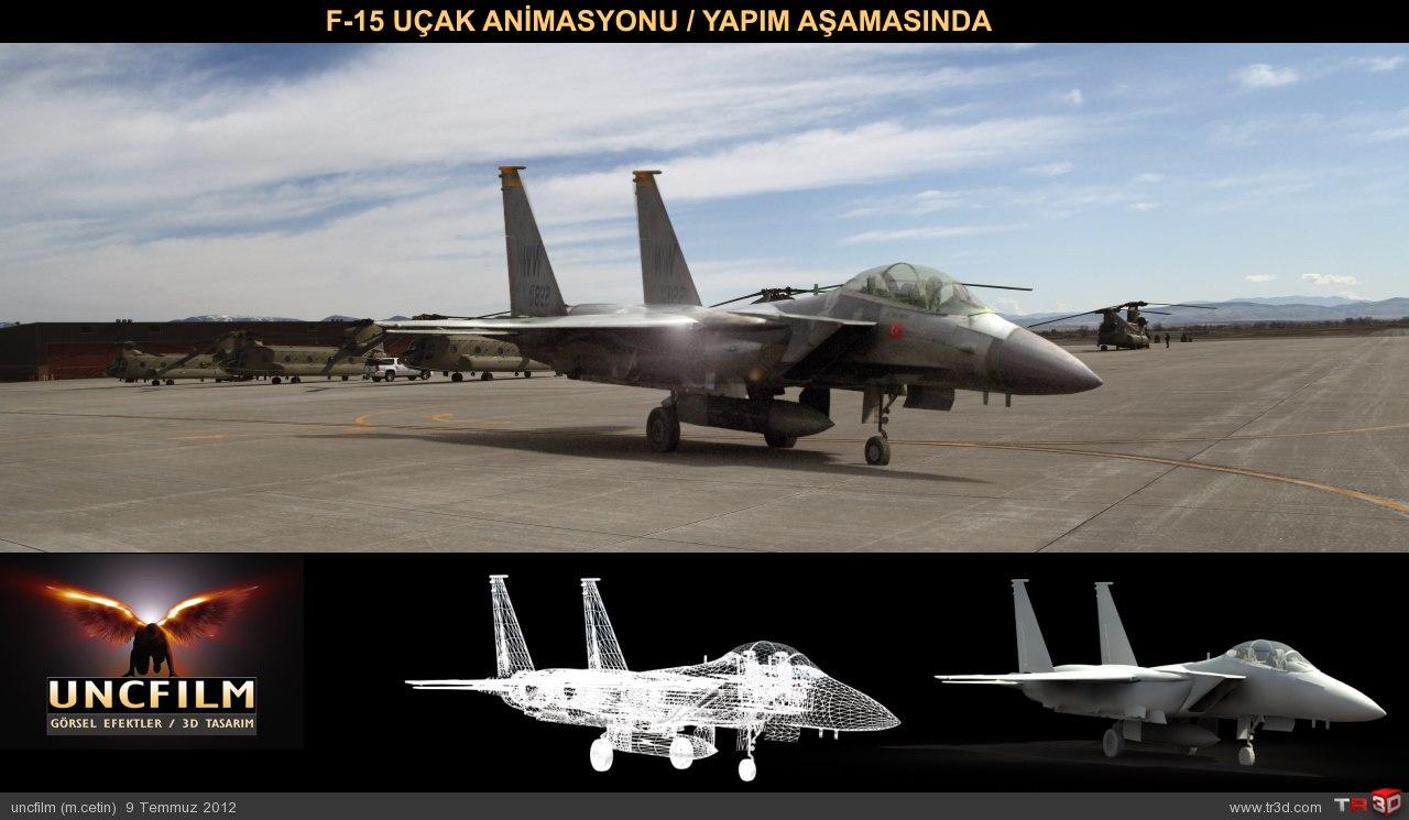 f-15 Animasyon Yapım Aşaması