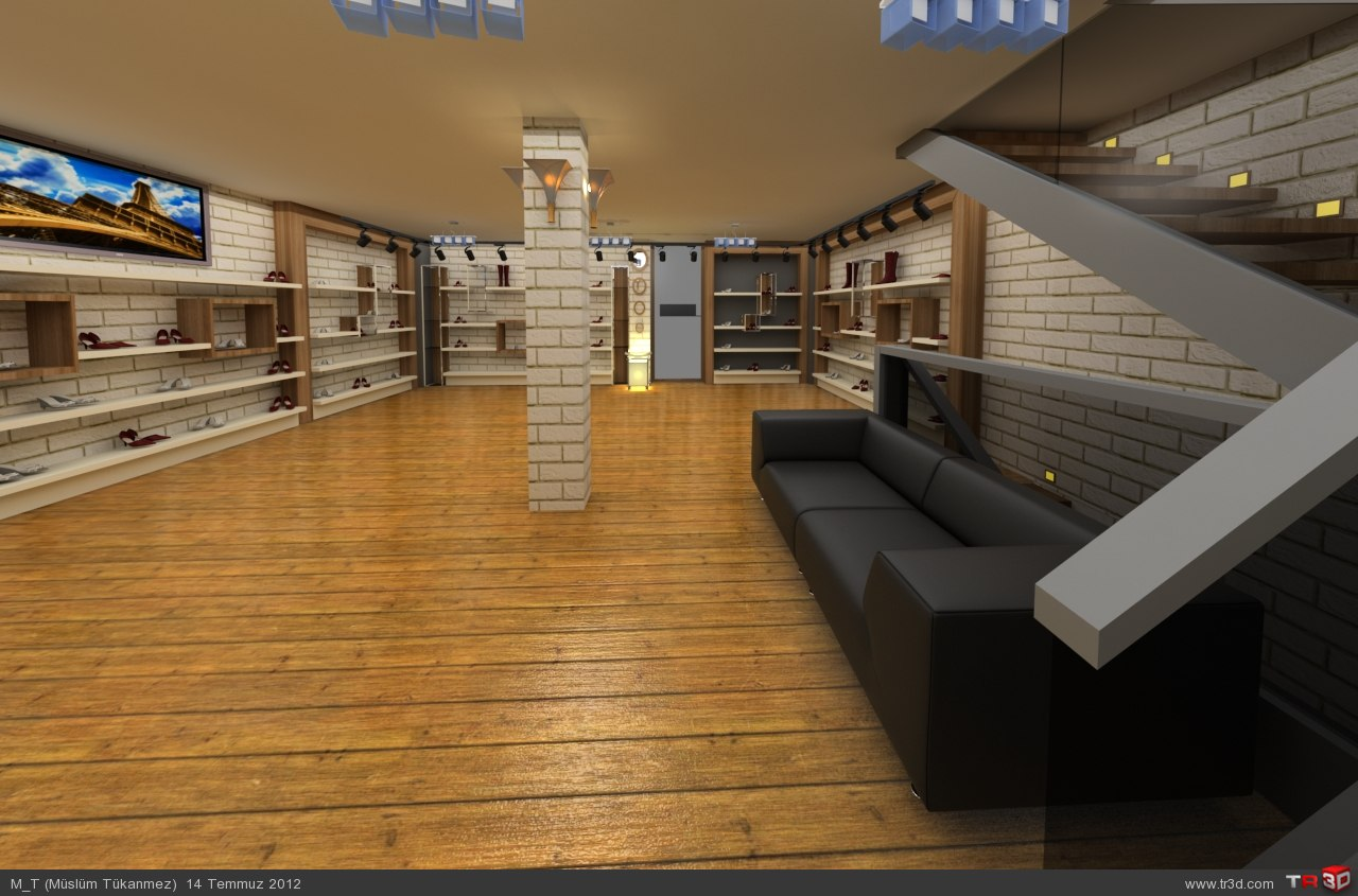 ayakkabi showroom 3d izimler. Black Bedroom Furniture Sets. Home Design Ideas